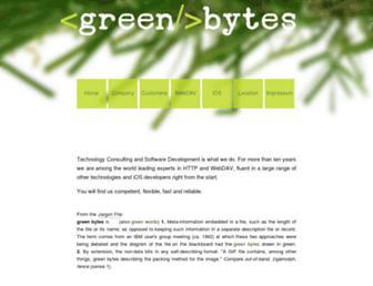 greenbytes.de screenshot