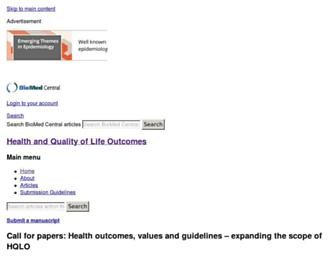 hqlo.biomedcentral.com screenshot
