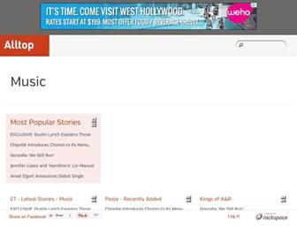 music.alltop.com screenshot