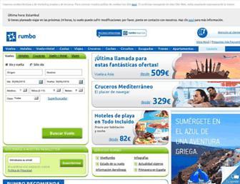 rumbo.es screenshot