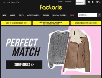 Thumbshot of Factorie.com.au