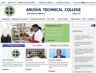 atc.ac.tz screenshot