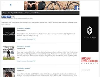 Main page screenshot of urbanvelo.org