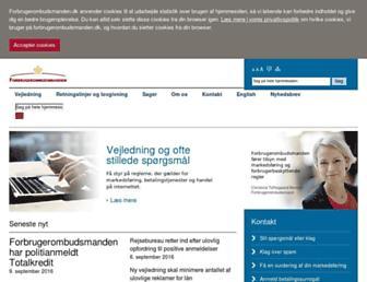 forbrugerombudsmanden.dk screenshot