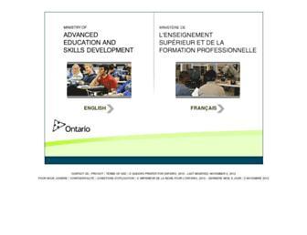 Main page screenshot of tcu.gov.on.ca