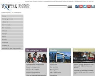 business-school.exeter.ac.uk screenshot