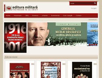 edituramilitara.ro screenshot