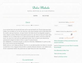 Main page screenshot of dulce-mahala.tapirul.net