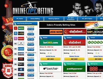 onlineiplbetting.com screenshot