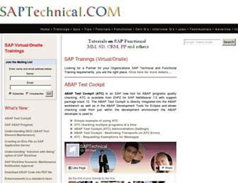 saptechnical.com screenshot