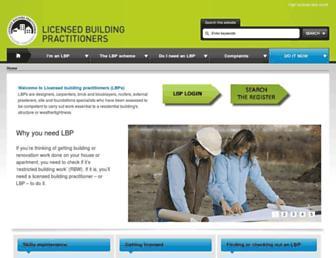 lbp.govt.nz screenshot
