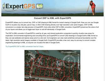 dxftokml.com screenshot