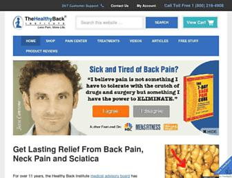 Thumbshot of Losethebackpain.com