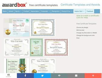 awardbox.com screenshot