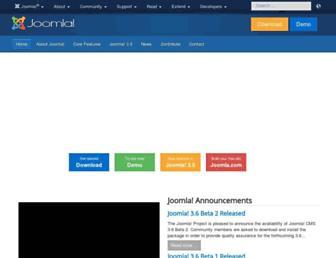 Main page screenshot of joomla.org