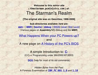 thestarman.pcministry.com screenshot