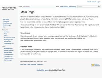 wiki.qnap.com screenshot