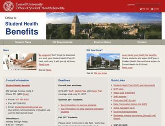 studenthealthbenefits.cornell.edu screenshot