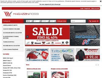 Main page screenshot of magazzinirossi.it
