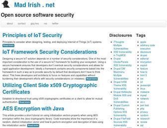 Main page screenshot of madirish.net