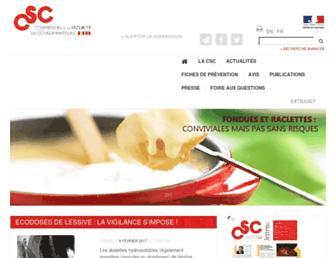 securiteconso.org screenshot