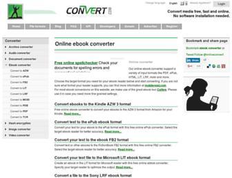 ebook.online-convert.com screenshot