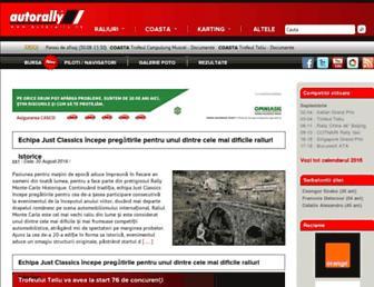 Main page screenshot of autorally.ro