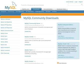 downloads.mysql.com screenshot