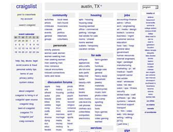 austin.craigslist.org screenshot