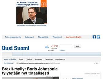 Main page screenshot of uusisuomi.fi