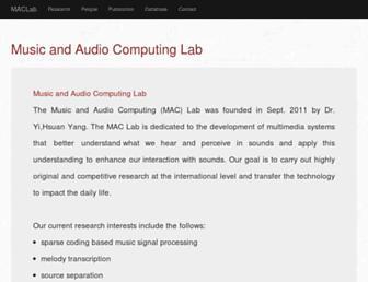 mac.citi.sinica.edu.tw screenshot