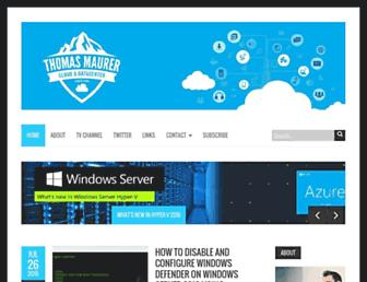 thomasmaurer.ch screenshot