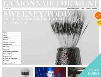 Main page screenshot of lamonnaie.be