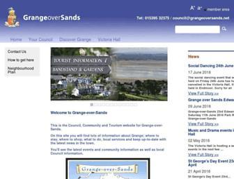 Main page screenshot of grangeoversands.net