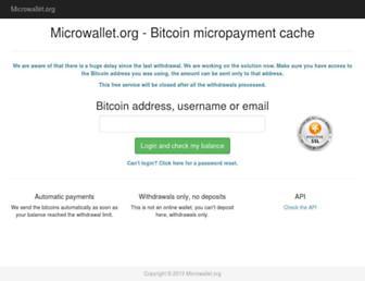 Thumbshot of Microwallet.org