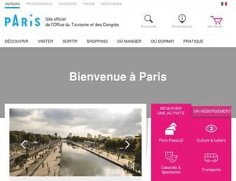 parisinfo.com screenshot