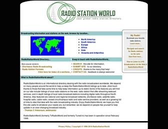 radiostationworld.com screenshot