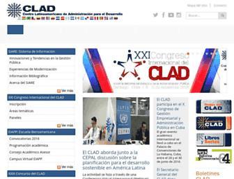 Main page screenshot of clad.org