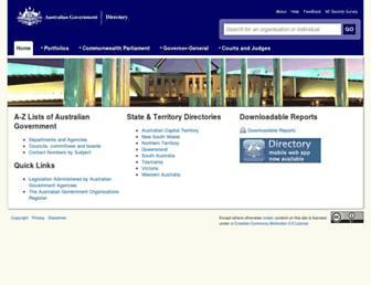 directory.gov.au screenshot