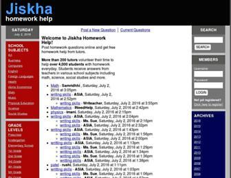 jiskha.com screenshot