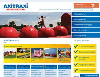 Main page screenshot of axitraxi.nl
