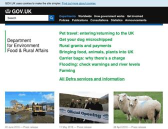 Thumbshot of Defra.gov.uk