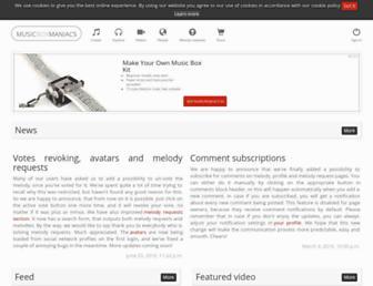 musicboxmaniacs.com screenshot