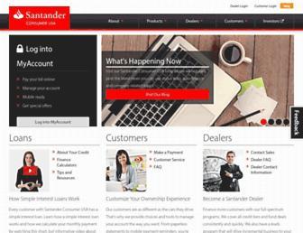 Thumbshot of Santanderconsumerusa.com