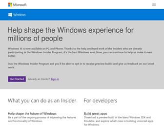 insider.windows.com screenshot