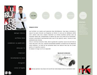 Main page screenshot of mkdesign.ro