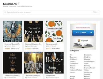 Main page screenshot of nokians.net