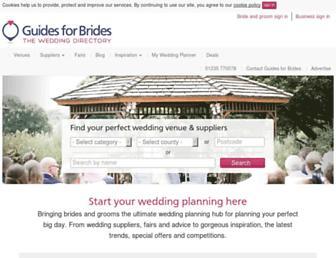 Main page screenshot of guidesforbrides.co.uk