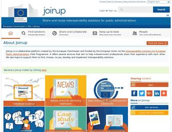 joinup.ec.europa.eu screenshot