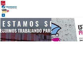 Main page screenshot of transaco.cl